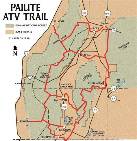 atv trails maps ut paiute atv trail map utah in its depth