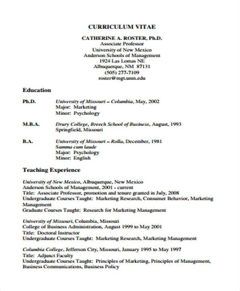 cv education template 10 education curriculum vitae templates pdf doc free