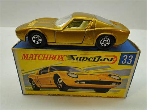 matchbox lamborghini car vintage matchbox lesney superfast lamborghini miura 33