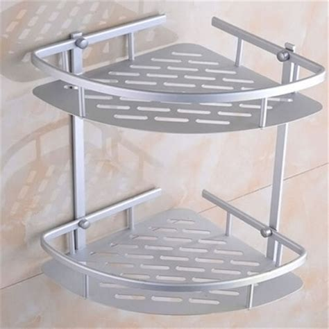 Bathroom Shower Racks Aliexpress Buy 1pcs Wall Shelf Shower Shelf Shoo Holder Bathroom Corner Rack Storage