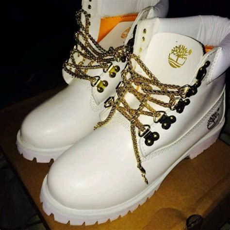 white and gold timberland boots shoes white gold tims timberlands white and gold