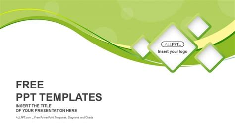 template ppt free green green abstract background and squares powerpoint templates
