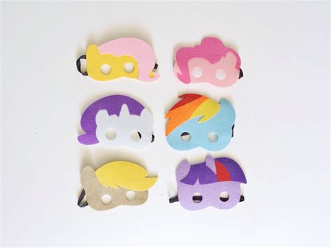 printable mask my little pony my little pony mask birthday party party favors mask