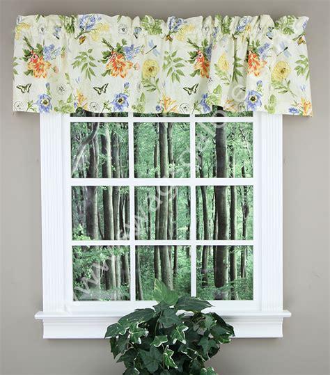 botanical curtains botanical garden tailored valance multi park designs