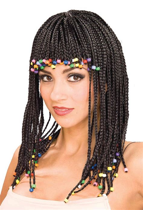 beaded wig black plaited wig with code 2274 scalliwags