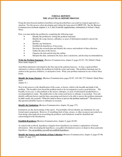 Report Essay Format by 3 Sle Of Formal Report Model Resumed