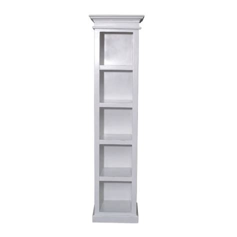 Narrow White Bookcase White Painted Furniture Narrow Bookcase Ebay