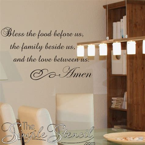 Word For Dining Room by Bless The Food Family And Between Us Vinyl Wall