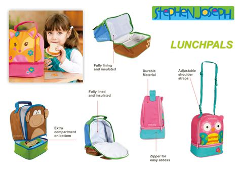 Lunch Cooler Bag Tas Bekal Tempat Makan Insulated Bonus Limited jual murah stephen joseph lunch pal butterfly feeding