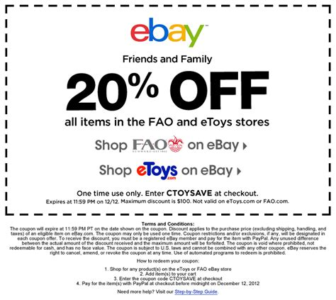 ebay coupon code december 2018