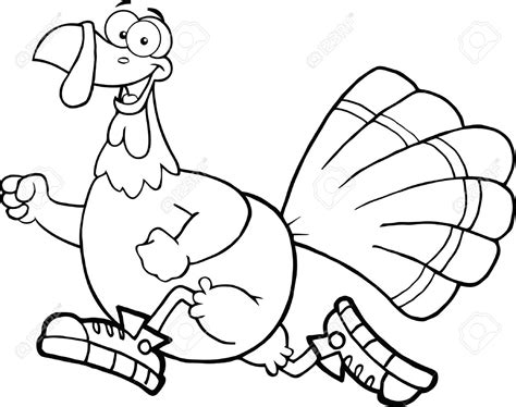 turkey trot coloring page jogging turkey clipart clipartxtras