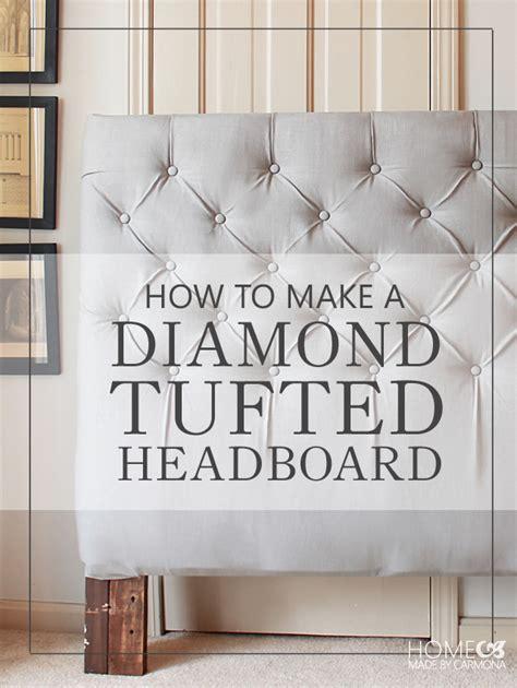 how to make tufted headboard how to make a diamond tufted headboard popcane