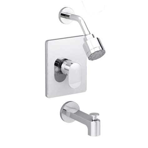Shower Set Chrome American Standard american standard moments 1 handle tub and shower faucet trim kit in polished chrome valve sold