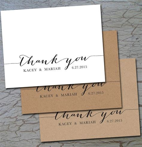 Wedding Thank You (folded or flat) Cards Notes Postcards