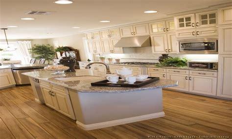 White cabinets gray countertops, antique white kitchen