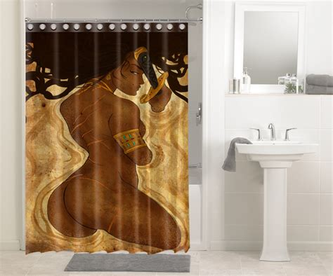 Afrocentric Afro Hair African Women 1465 Shower Curtain