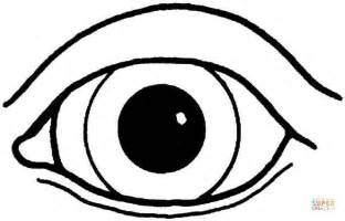 Printable Coloring Pages Eyes | an eye coloring page free printable coloring pages