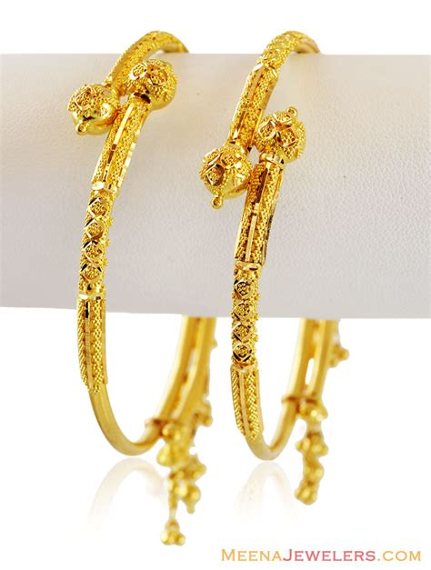 pattern of gold kada 22k gold traditional kada baka15593 traditional 22k