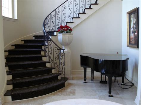 Decorative Kitchen Islands by Iron Railing Designs Staircase Eclectic With Curved