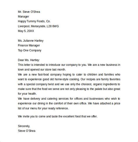 New Business Letter Of Introduction Templates letter of business introduction sle sle