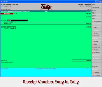 Section Tally by Integrate Receipt Module With Tally Software