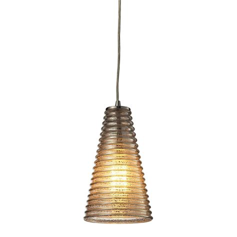 Mini Pendant Lighting Fixtures Elk 10333 1 Ribbed Glass Contemporary Satin Nickel Mini Pendant Lighting Fixture Elk 10333 1
