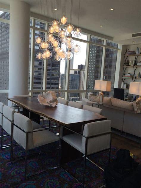 Kadur Custom Blown Glass Dining Room Chandelier   Modern