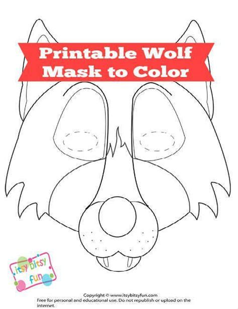 printable werewolf mask free printable wolf mask template wolf mask wolf and