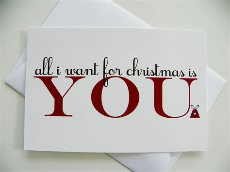 Printable Christmas Cards For Your Boyfriend | romantic christmas card all i want for christmas romantic