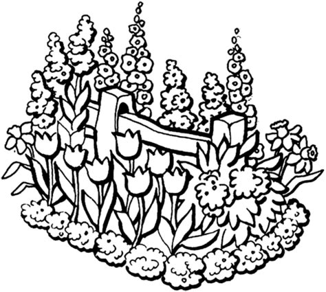coloring pages of flowers and gardens beautiful garden coloring page supercoloring