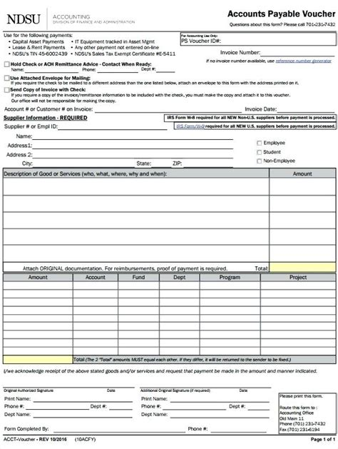 Payment Voucher Template Doc Skincense Co Accounts Payable Voucher Template