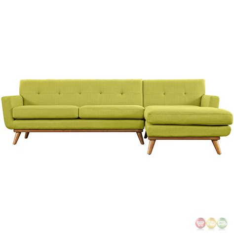 Wooden Sectional Sofa by Engage Right Facing Chaise Sectional Sofa W