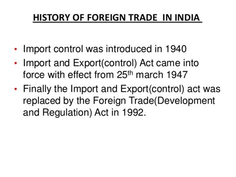 Mba In Import Export In India by India S Foreign Trade Policy 2009 13 By Jayant Nannore Mba Bf