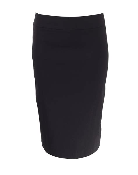 avenue montaigne pull on stretch pencil skirt in black lyst