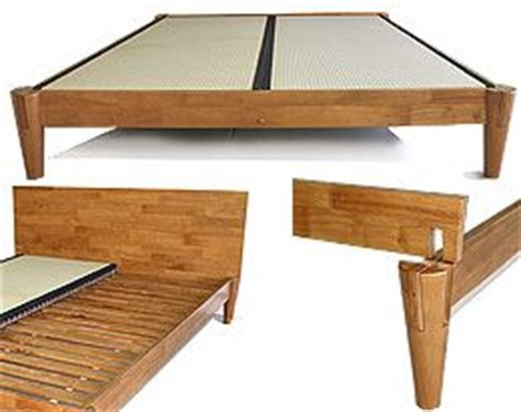 Platform Bed With Solid Base No Slats The Ensui Tatami Platform Bed Frame Is Constructed Of 100 Environment Friendly Solid Wood