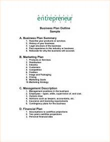 product outline template business outline business templated