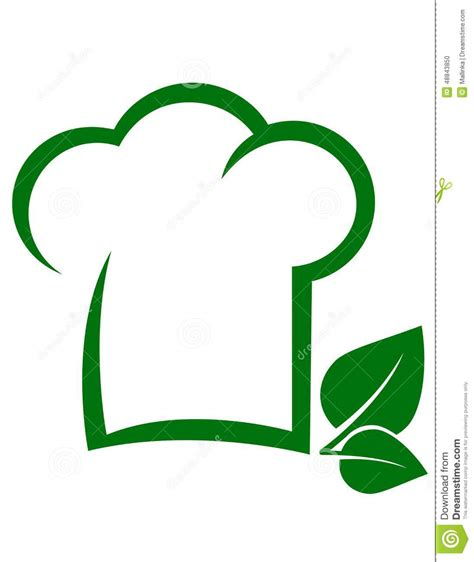 Vegetarian Icon With Chef Hat Stock Vector   Image: 48843850
