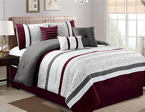 luxury cal king comforter sets jbff 7 piece oversize luxury stripe bed in bag microfiber