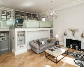 Example of a large classic formal loft style living room design in