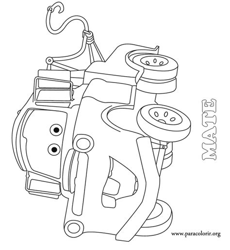 Cars Movie Tow Mater Coloring Page Mater Coloring Pages