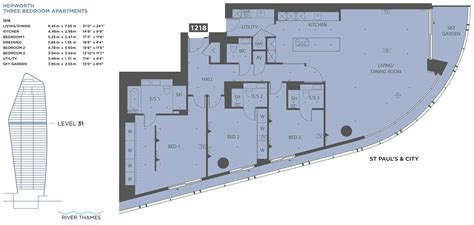 One Bedroom Apartment Plans the hepworth collection berkeley group