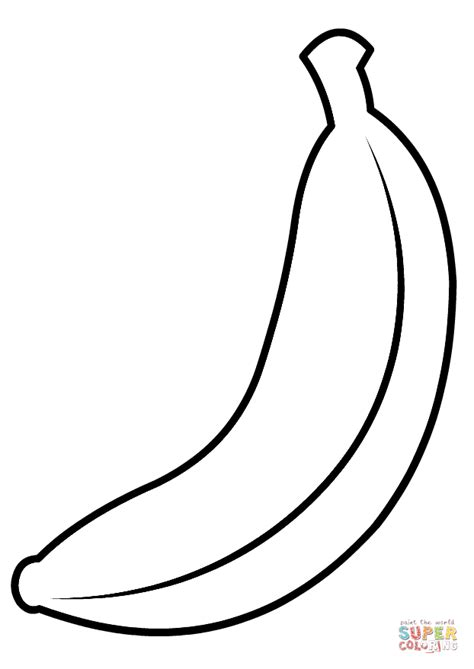 banana color banana coloring page free printable coloring pages