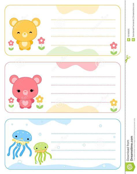 Aufkleber Kindernamen by Children Name Cards Stock Vector Image Of Group Cards
