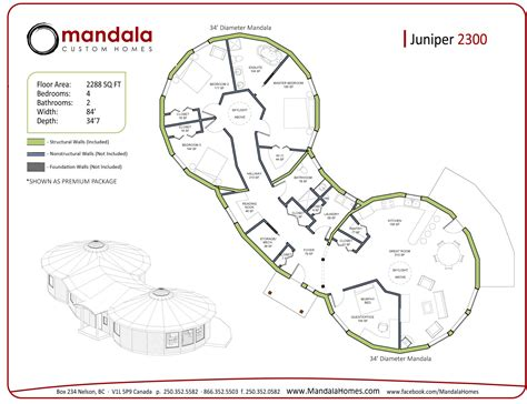 Juniper Series Floor Plans Mandala Homes Prefab Round Homes Energy Star