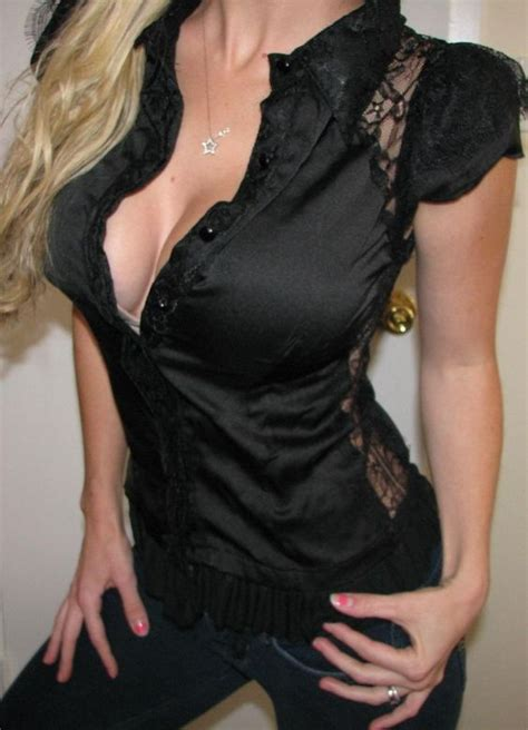Yay Or Nay Wednesday Are Shirts And Cleavage Fashionable Or Cheesy by Image Gallery Office Blouse Cleavage
