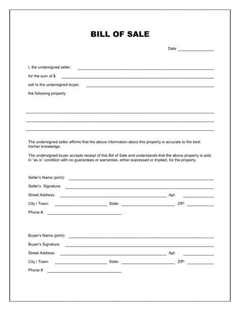 used car bill of sale template pdf used car bill of sale template pdf invoice