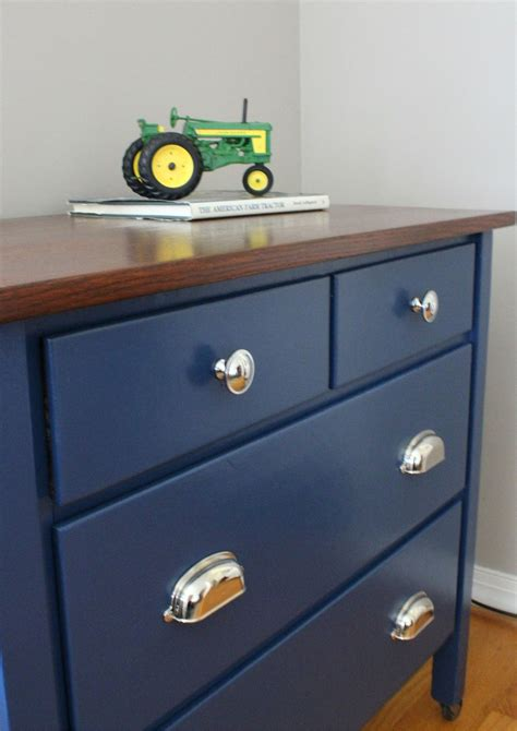 blue painted dresser navy blue dresser with wood stained top dresser room