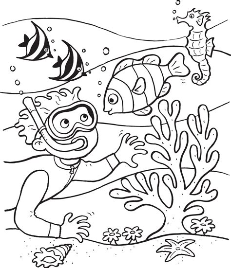 Printable Coloring Pages Underwater | underwater coloring pages to download and print for free
