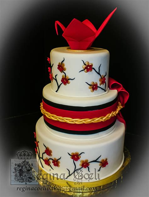 Origami Wedding Cake - japanese origami crane wedding cake cakecentral