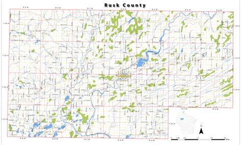 towns in rusk county wisconsin